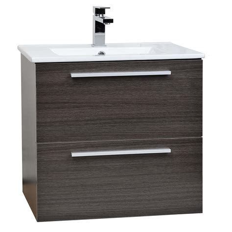 Buy Nola 24 25 Quot Wall Mount Modern Bathroom Vanity Grey Oak Modern Wall Mounted Bathroom Vanities