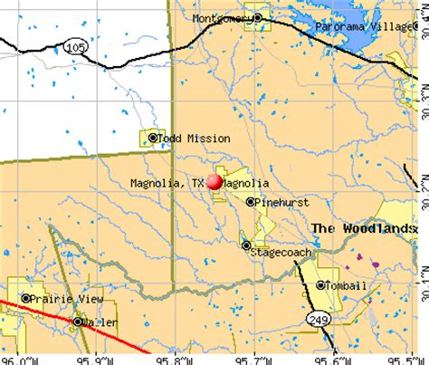 map of magnolia texas magnolia texas map