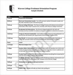 Orientation Template Word orientation schedule templates 11 free word excel pdf