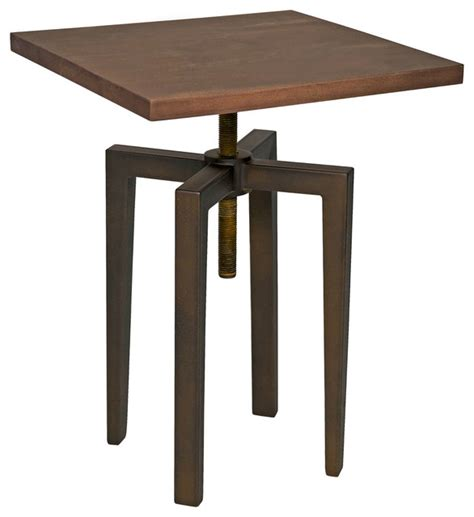 Industrial Side Table Industrial Loft Metal Wood Adjustable Height Side Table Industrial Side Tables And End Tables