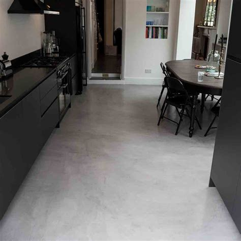 Poured Concrete Kitchen Floor by Micro Concrete Kitchen Installation Poured Resin And