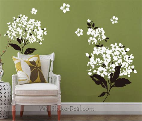 charming flowers wall stickers home decorating photo