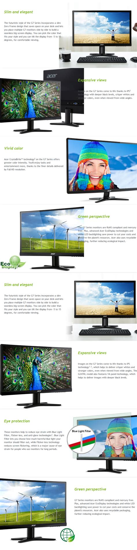 Monitor Ips Led acer g237hl 23 widescreen ips led monitor buy now jw computers