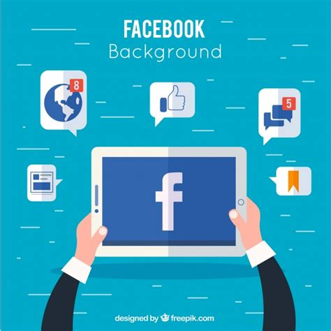 facebook layout vector free download device background with facebook and icons vector free