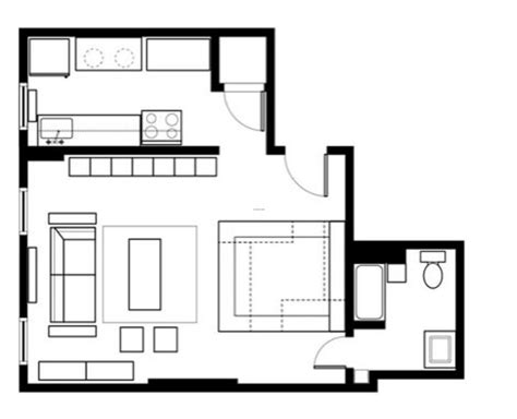 Room Floor Plan by 5 Smart Studio Apartment Layouts Design Bookmark 13840