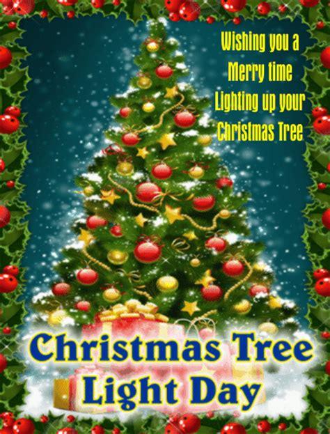 a christmas tree light day ecard free christmas tree