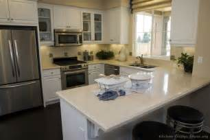 Peninsula Kitchen Designs Pictures Of Kitchens Traditional White Kitchen Cabinets