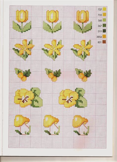 fiori a punto croce grande raccolta di schemi e grafici per punto croce free