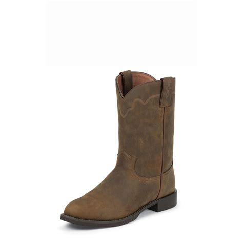 justin mens cowboy boots justin s stede roper boots 675584 cowboy