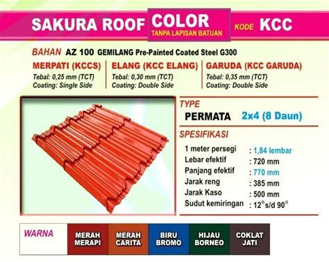 Multiroof Jakarta harga genteng metal roof terbaru 2018