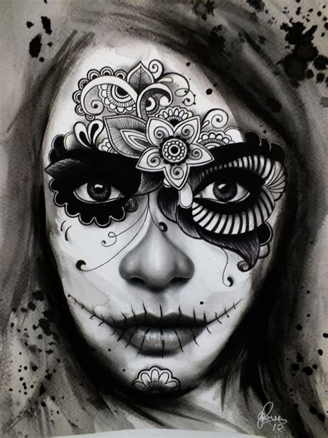 day of dead girl tattoo designs day of the dead images designs