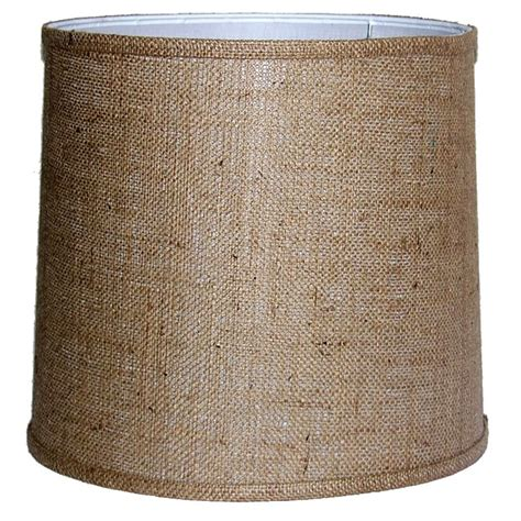 Drum L Shades On Sale by Medium Brown Burlap Drum Indoor L Shade Free Shipping