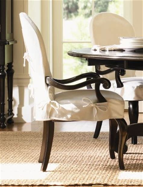 slipcovers for dining chairs with arms long cove summerville arm chair w white slipcover black