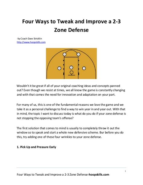 Design This Home Game App For Android four ways to tweak and improve a 2 3 basketball zone defense