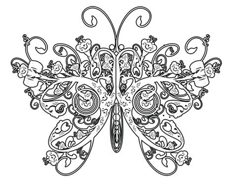 butterflies coloring book for adults books intricate coloring pages for adults coloring home
