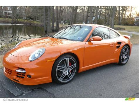 orange porsche 911 turbo 2007 orange porsche 911 turbo coupe 4087694 photo 14