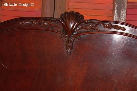 custom color mixing antique mahogany bed in white by shizzle design american paint