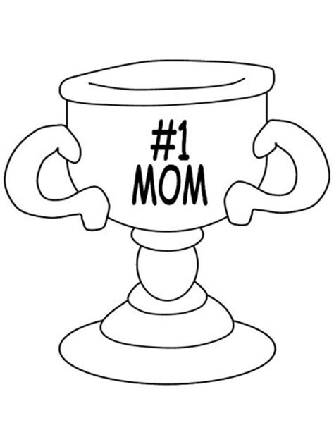coloring pages number 1 mom number 1 mom trophy coloring pages coloring pages
