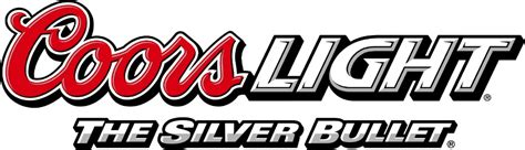 coors light logo and silver bullet text logo