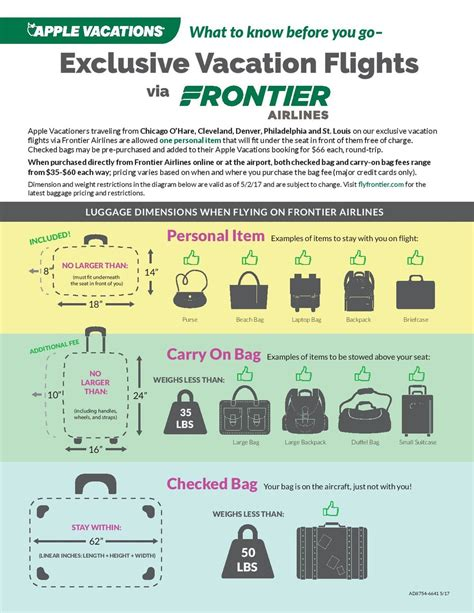 frontier baggage fees helpful hints travel one inc