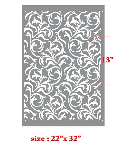 wall pattern template oh so romantic heather geo scroll swirls modern wall