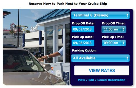 parking the disney cruise line