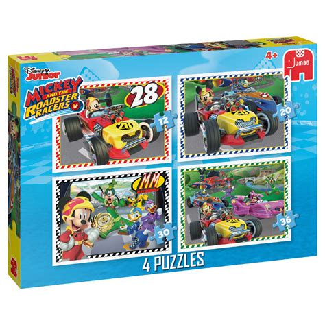 Jumbo Mickey jumbo 4 in 1 puzzel disney mickey mouse en de wegracers