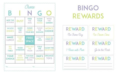printable board game coupons make chores more fun with this free printable chore bingo