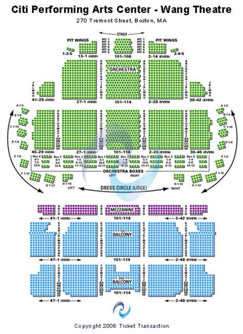 wang theatre boston seating map boston exhibitionist