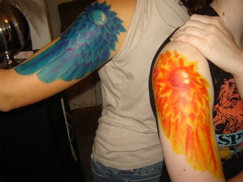 fire and ice tattoo and by hatsuharurocks on deviantart