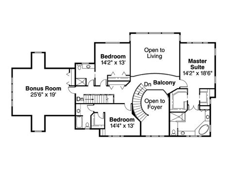 2nd floor plan plan 051h 0072 find unique house plans home plans and