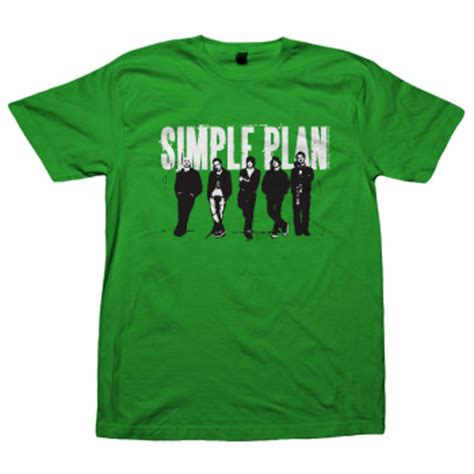 Simple Plan Tshirt simple plan band on green t shirts official merch powered by merch direct