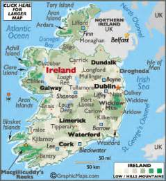 World Map Ireland by Geography Of Ireland Landforms World Atlas