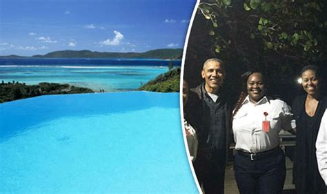 barack and michelle obama on richard branson s private