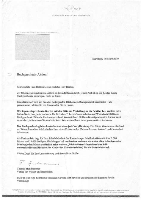 Anschreiben Verlag Beispiel Streusand Fast277