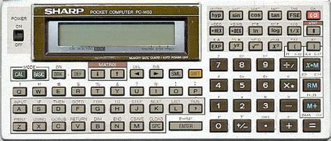 calculator programmer sharp pc 1403 wikipedia
