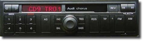 Radio Chorus Audi by Audi Chorus Wpisywanie Kodu Do Odblokowania Radia