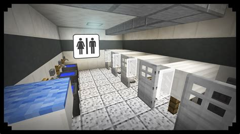 bathroom minecraft minecraft how to make a public restroom youtube