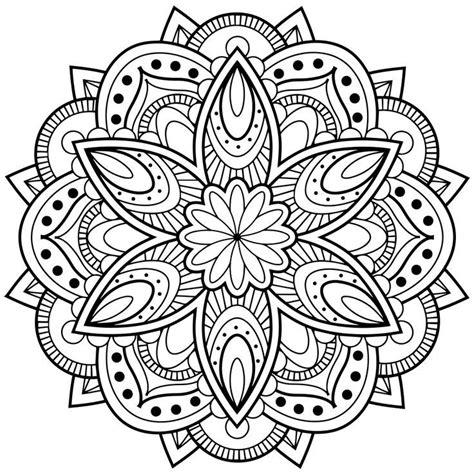 Lotus Mandala Coloring Page