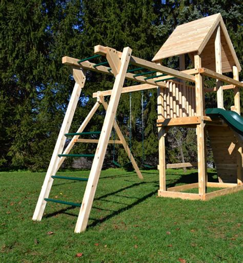 monkey bar swing play set options wooden add ons triumph play systems