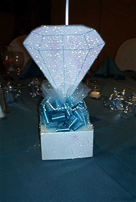 diamond themed events diamond centerpiece denim and diamonds birthday party
