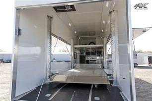 Exterior Door Awning Car Hauler Race Trailers With Living Quarters Mo Great