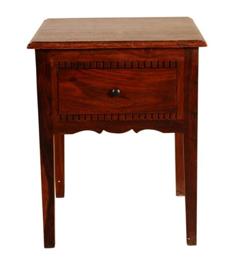 Fancy Tables by Fancy Sheesham Wood End Table By Mudra End Tables