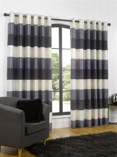 black and cream horizontal striped curtains green and cream striped curtains curtain menzilperde net