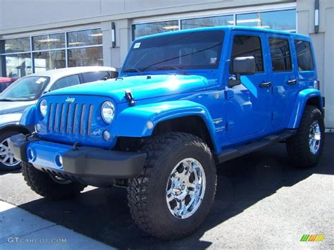 jeep blue 2011 cosmos blue jeep wrangler unlimited 4x4