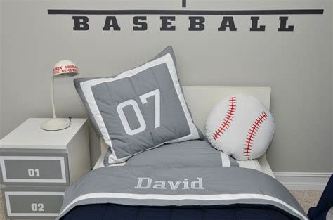 Baseball Bedroom Decorations Cool Baseball Bedroom Decor On Room Vintage Baseball Boys Bedroom Of Family Home Baseball