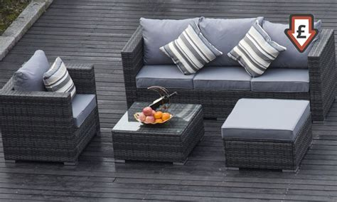 vancouver five seater rattan set groupon