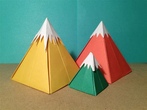 Mountain Fold In Origami - learning curve 9 origami mountains collective conscious