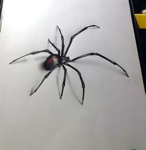 3d spider tattoo design