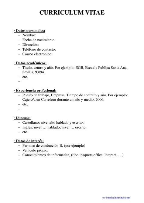 Modelo Curriculum Vitae Higienista Dental 20 febrero 2013 selu smart